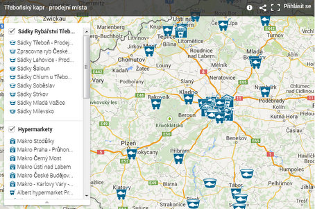 Zobrazit mapu prodejních míst